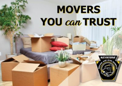 Graphic of Keystone's Movers you can trust.